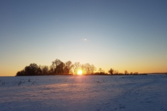 Laupohl Winterlicher Sonnenuntergang
